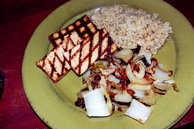 Grilled Tofu, Rice!